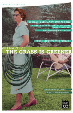 Vin Nardizzi, The Grass Is Greener