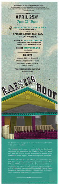 Raising the Roof fundraising flyer